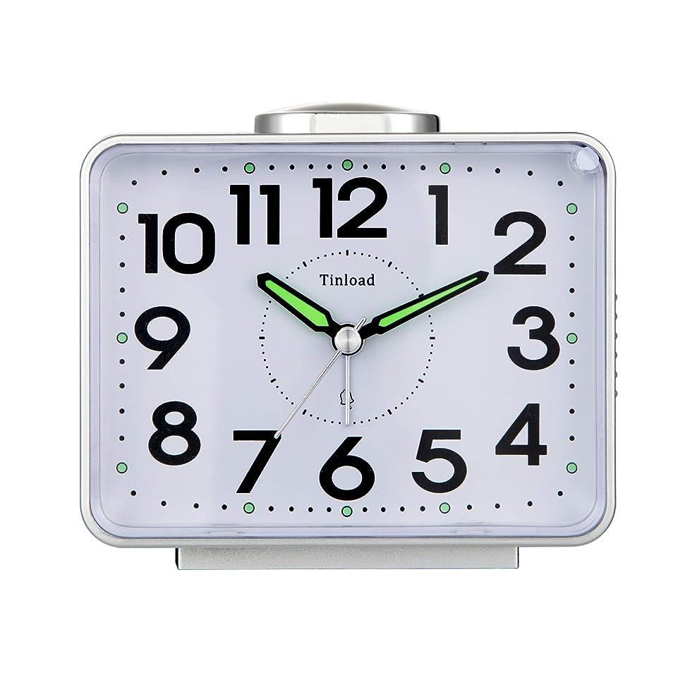 におい遷移完全にTinload 大音量ベル 目覚まし時計 バックライト付き 電池式目覚まし時計 高眠りの方用 (ブラック)