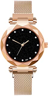 Watch,Becoler Ladies Watch Starry Sky Women Watches Bracelet Magnetic Stainless Wristwatche