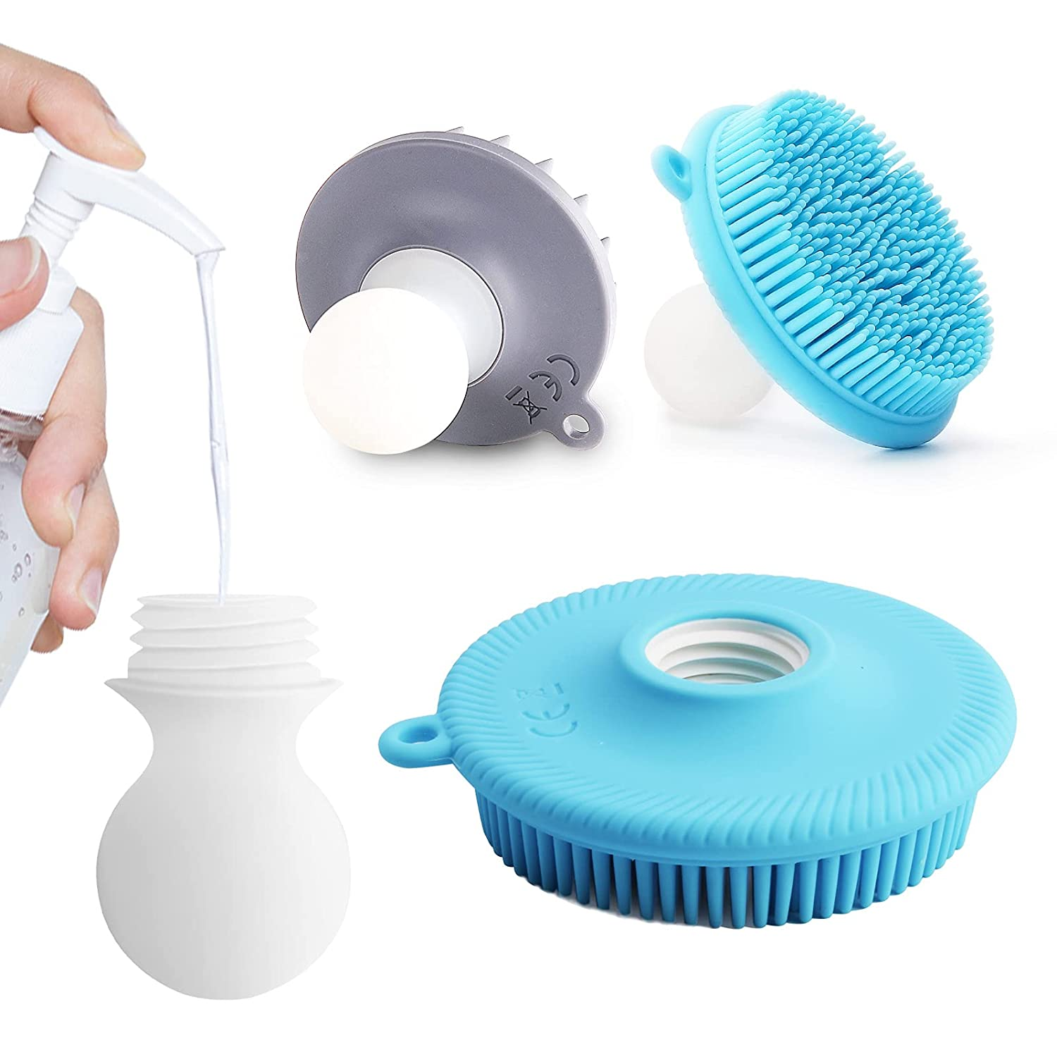 Silicone Body Scrubber Kit Shower Exfoliating Online Our shop most popular limited product Brush Hai Scrub