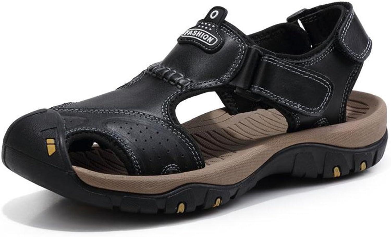 CJC Sandals Slippers Sports Sports Sports Sports Athletic män Closed Toe sommar Sports Casual Fisherman läder strand skor Hiking utomhus Anti Collision (Färg  3, Storlek  EU39  UK6)  köpa rabatter
