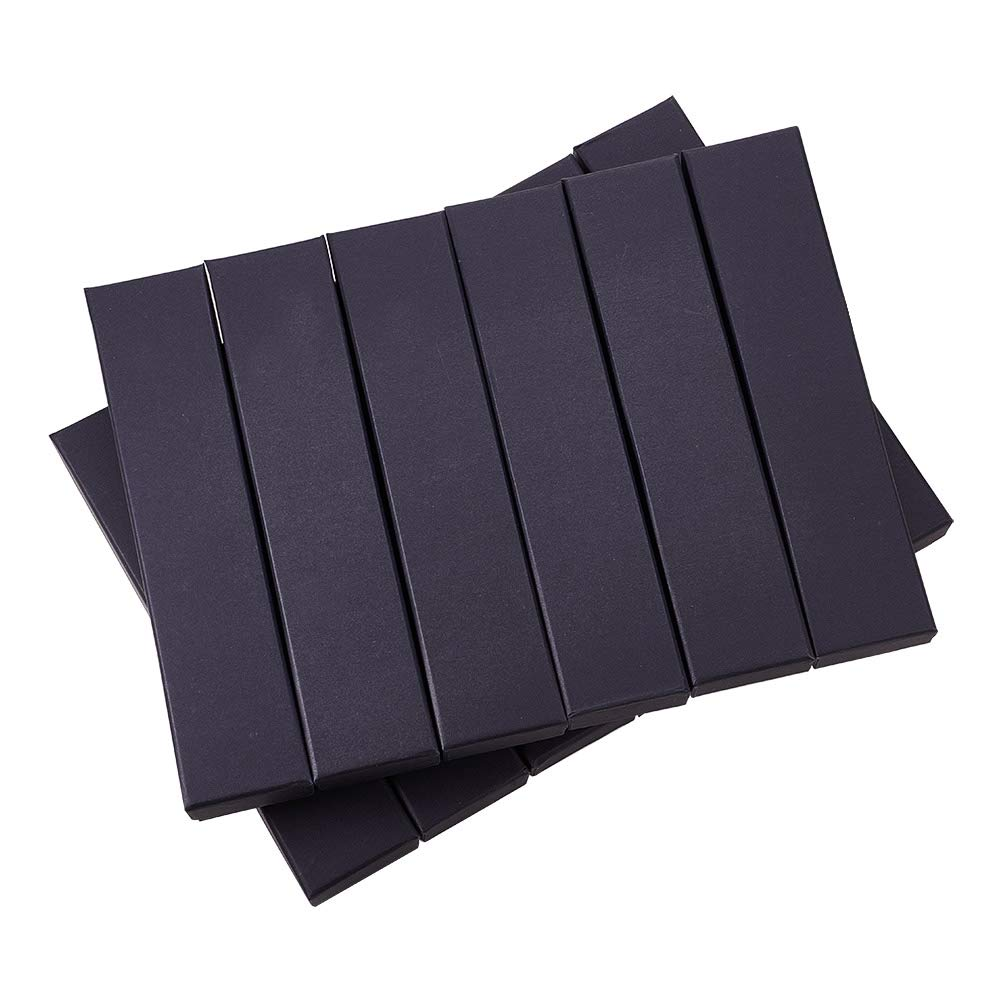 BENECREAT 12 Pack Negra Caja de Joya Caja de Cartón Craft con Almohadilla de Terciopelo Elegante para Presentación de Pulsera Collar 22.4x5.5x3cm: Amazon.es: Hogar