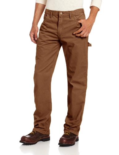 Dickies Men's Relaxed Straight Fit Lightweight Duck Carpenter Jean, Timber, 38W x 32L