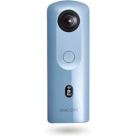RICOH THETA SC2 BLUE ブルー 360度全天球カメラ 360°手振れ補正機能搭載 4K動画 進化したHDR合成機能 (THETA SC比 2.4倍の処理速度アップ、最新のアルゴリズムにより室内の撮影でよりナチュラルな絵作り) 高速WiFi転送 精度の高い自然なスティッチング 910803