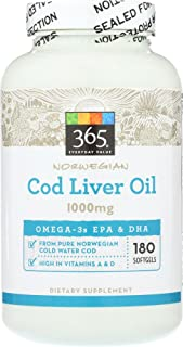 365 Everyday Value, Cod Liver Oil, 180 ct