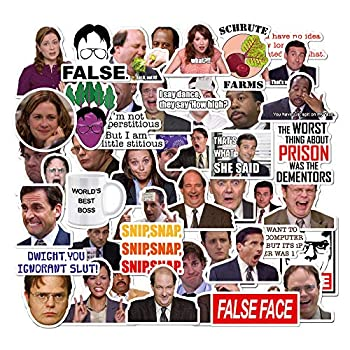 The Office Stickers Pack of 50 Stickers - The Office Stickers for Laptops The Office Laptop Stickers Funny Stickers for Laptops Computers Hydro Flasks  The Office-A