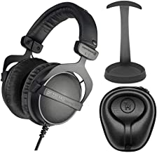 beyerdynamic DT 770 PRO 16-Ohm Over-Ear Headphones (Ninja Black, Limited Edition) with Knox Gear Aluminum Stand and Hard S...