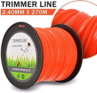 TIRDITY Trimmer Line Nylon Round Trimmer Replacement Spool for Weed Lawn Grass Yard (2.4mm x 270m)