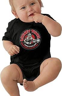 LUCY FOSTER Looney Tunes Unisex Cool Newborn Baby Romper Baby BoyPlaysuit 45 Black