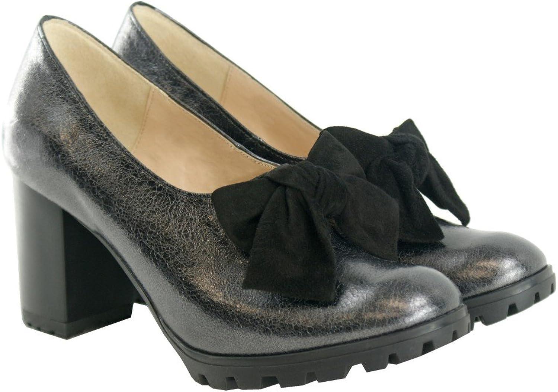 BOSCCOLO 4602-4634 Pumps, Traktor Schuhe, Bow, Bow, Schleife, Leder, Leather  großer Rabatt