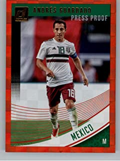 aad92e07d6a 2018-19 Donruss Press Proof Red Soccer  151 Andres Guardado Mexico Official  Panini 2018