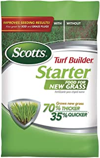 Scotts Turf Builder Starter Food for New Grass, 42 lb. - Lawn Fertilizer for Newly Planted Grass, Also Great for Sod and G...