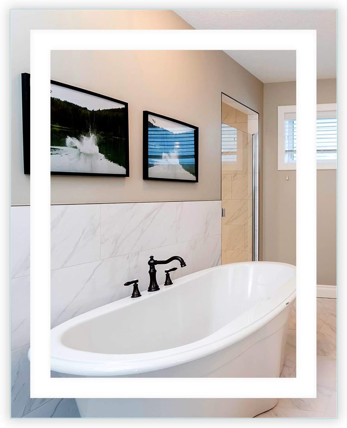 Mirrors Marble LED Front-Lighted Bathroom W Fees Max 47% OFF free Mirror: Vanity 32