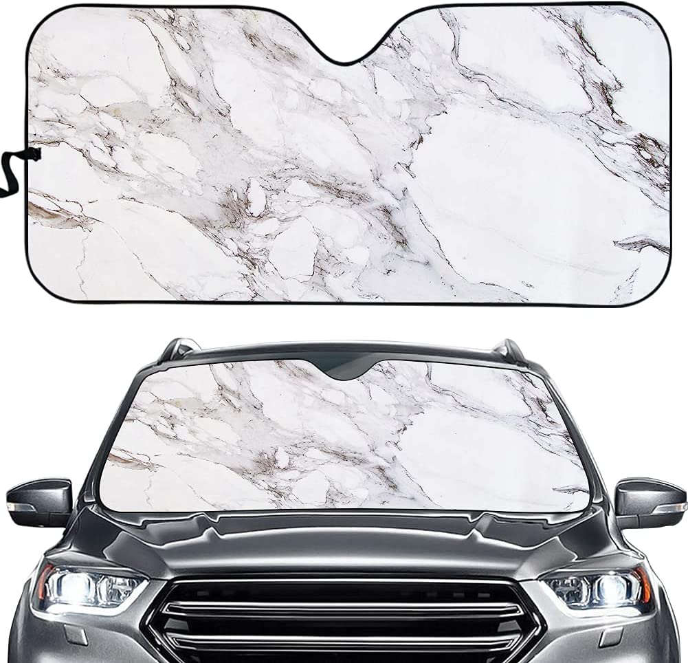 Suobstales Marble Print Auto Windshield Snow Ice security and for ...