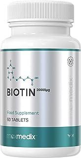 Biotina 20,000 mcg dosis alta Maxmedix - Suplemento vitamí