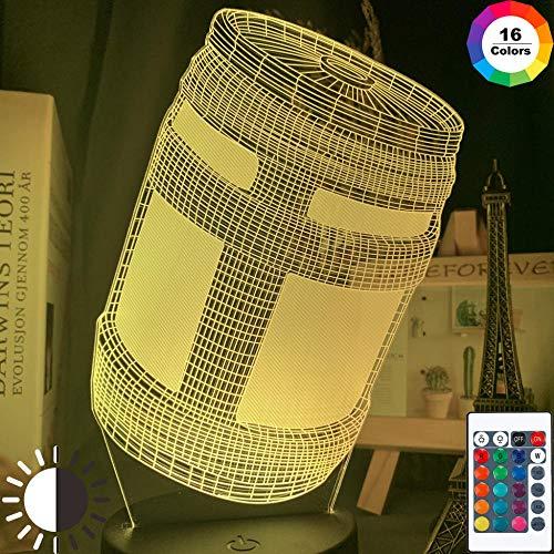 3D nachtlampje LED illusie nachtlampje pot kruik hologram 16 kleuren touch met afstandsbediening verjaardagscadeau licht