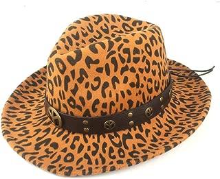 Fedora Cap Fashion Ladies Winter Knight Church Hat Autumn Classic Jazz Fedora Hat Wool Polyester Metal Decoration Felt hat (Color : Yellow, Size : 56-58cm)