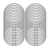 Senhai 30 PC Llaveros de Alambre, 5.2'/ 13cm Anillo 2mm Cable Loops Engranaje de Acero Inoxidable para Colgar Etiqueta de Equipaje, Llaves y identificadores de Etiquetas de identificación – Plata