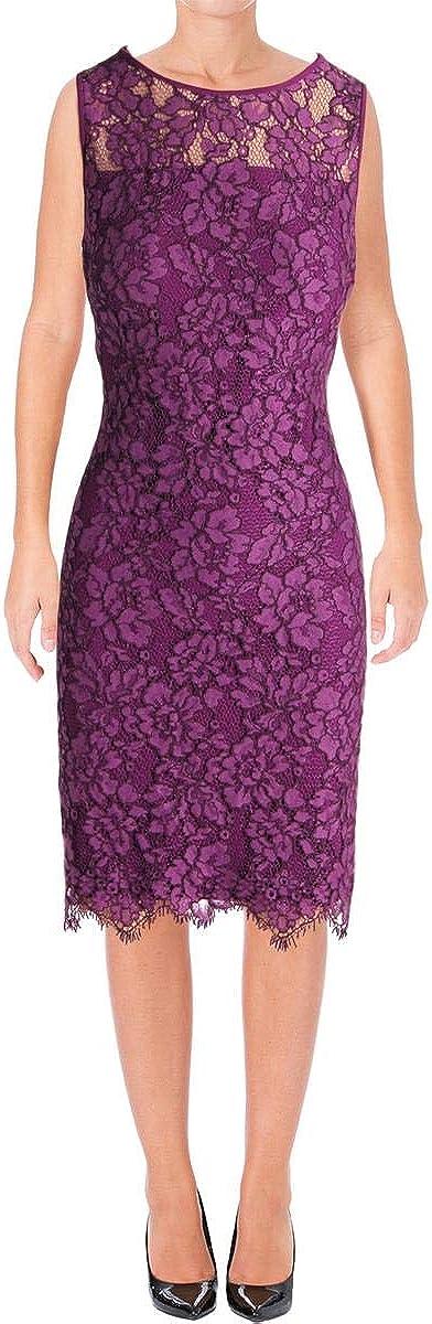 Lauren by Ralph Lauren Women's Melia Scalloped Lace Sheath Dress