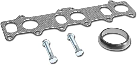 Aluminum Exhaust Manifold Header Gasket Set for 99-05 VW Golf GTI Jetta 2.8L VR6 Engine