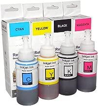 Kit 4 Cores de Tinta Compatível Corante para Epson Ecotank