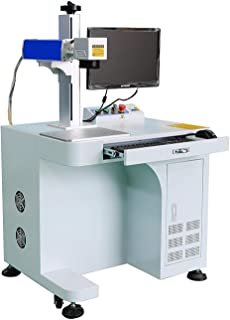 DIHORSE Desktop 30W Fiber Laser Marking and Engraving Machine for Permanent Metal and Various Non-metal Gold Sliver Jewelry Engraving (MAX, 30W, 7.8