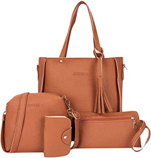 Women's 2019 New Fashion Four-Piece Shoulder Bag ❀ Ladies Wallet Messenger Handbag Totes Satchel
