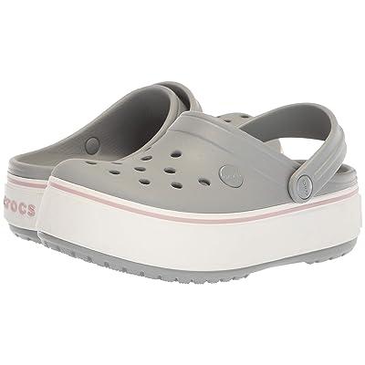 Crocs Crocband Platform Clog (Light Grey/Rose) Women