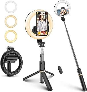 ELEGIANT Palo Selfie Trípode, Selfie Stick con Anillo de luz LED para Fotografía con Control Remoto Bluetooth para Cámara ...