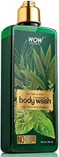 WOW Tea Tree Oil & Mint Foaming Body Wash - Natural Moisturizer For Clean, Smooth, Healthy Skin - Essential Nutrients Shea...