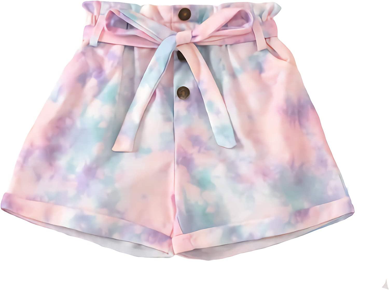 Baby Girl's Max 63% OFF Big Tie Dye Pants Shorts Casual Summer Elastic Max 54% OFF