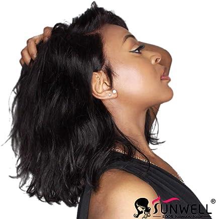 Sunwell Lace Front Human Hair Bob Wigs Natural Wavy Brazilian Virgin Hair  Glueless Short Bob Human 2a1861b01