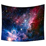 Starry Sky Tapestry, Home 3D Cosmic Galaxy Tapestry, Living Room Bedroom Decoration Tapestry, Mattress, Tablecloth (51.2'X59.1', Starry Sky)