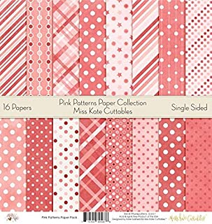 Pattern Paper Pack - Pink Patterns - Scrapbook Premium Specialty Paper Single-Sided 12