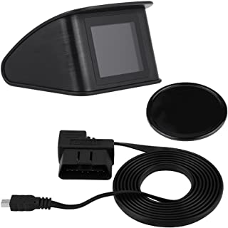Cuque HUD Head Up Display Plug & Play Universal TFT LCD Multi-Color Smart Display for OBD II EUOBD OBD 2 for Water Tempera...