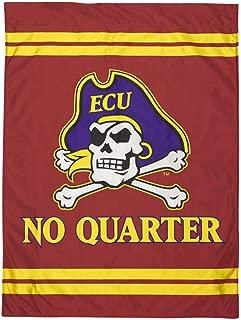 JAYMAC East Carolina Crimson No Quarter Jolly Roger House Flag ECU