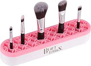 BEAUTLOHAS. Silicone Makeup Brush Holder, Multifunctional Portable Cosmetic Display Organizer, Silicone Brushes Tools Storage for Different Size Brush, Sew Organizer for Women & Housewife (Pink)