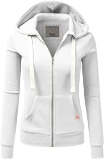 e11afabf509 Doublju Lightweight Thin Zip-Up Hoodie Jacket for Women with Plus Size