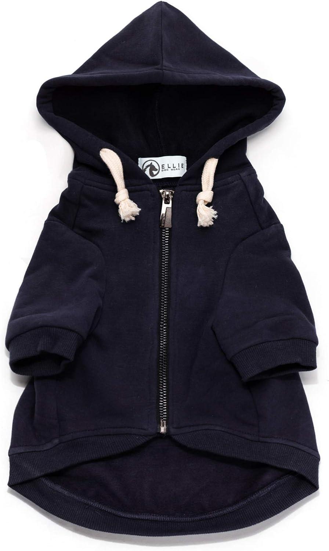 Ellie Max 40% OFF Dog Wear Adventure Save money Zip Up Hook with Blue Navy Hoodie