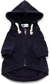 Ellie Dog Wear Adventure Zip Up Dog Hoodie Navy Blue with Hook & Loop Pockets and Adjustable Drawstring Hood - Size XXS to XL - Comfortable & Versatile Premium Dog Hoodies