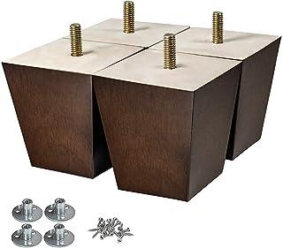Wood Furniture Legs 3 inch Sofa Legs Pack of 4 Square...