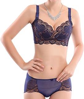 655a8f9991 YISUMEI Women s Wire-free Bras Underwear Set Plus Size Cotton 4 Hooks