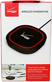 Verizon Qi Wireless Charging Pad/Mat/Dock - Universal Charger for Smartphones & Devices Black/Red
