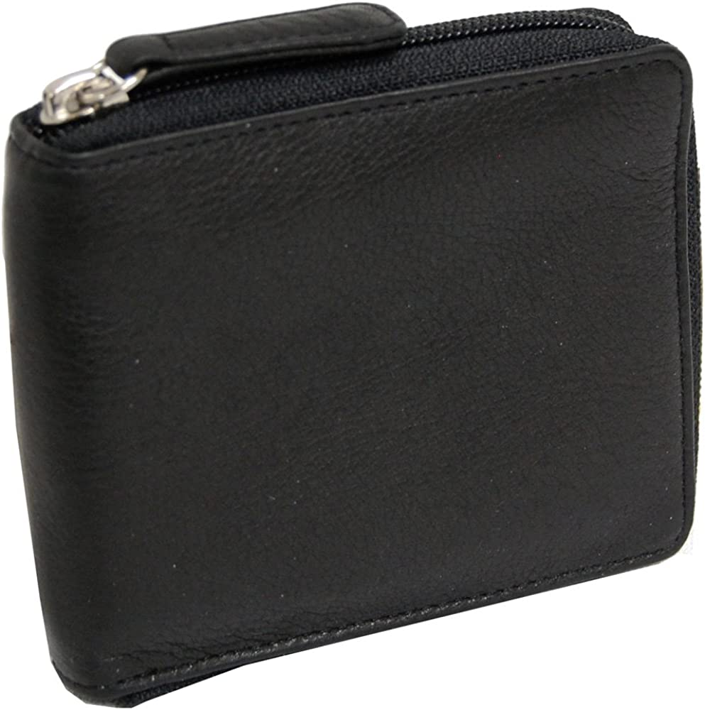 Osgoode Marley RFID Zippered Passcase Leather Mens Bifold Wallet - 1225