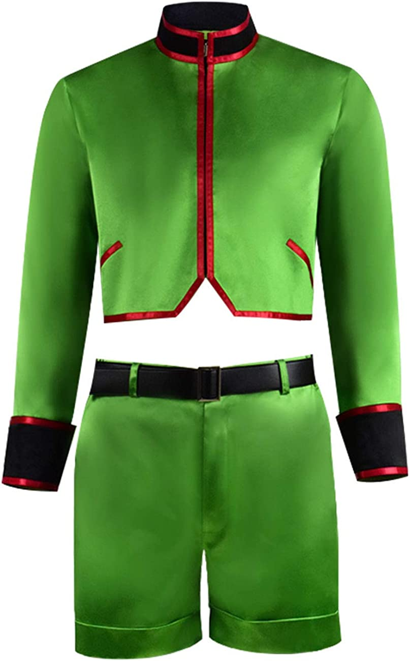 Hunter X Hunter Gon Freecss Cosplay Costume Green Suit Halloween Outfit Adult