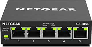 NETGEAR 5-Port Gigabit Ethernet Smart Managed Plus, Network Switch, Hub, Internet Splitter (GS305E)