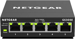 NETGEAR 5-Port Gigabit Ethernet Smart Managed Plus, Network Switch, Hub, Internet Splitter (GS305E)