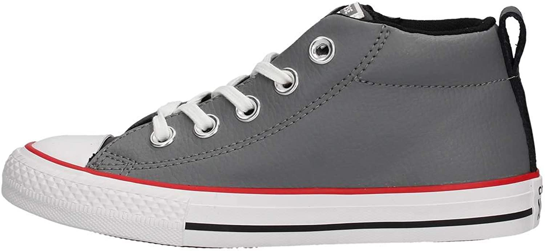Converse Unisex-Child CTAS Street Mid Mason/Black/White Sneaker