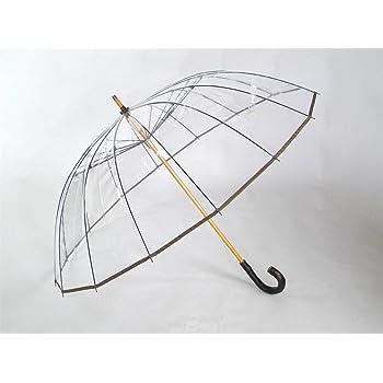 ホワイトローズ かてーる16桜 ビニール傘 収納袋付き 日本製 透明ビニール傘 カテール16桜 (オリーブ)