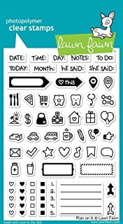 """Lawn Fawn Clear Stamps 4""""X6"""" - Plan On It (Pack of 1)"""