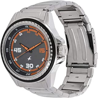 Fastrack Men's Grey Dial Metal Band Watch - 3142SM01